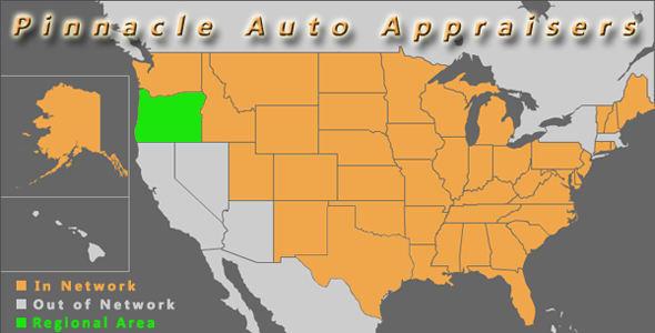map oregon pinnacle auto appraisal appraiser diminished value inspection