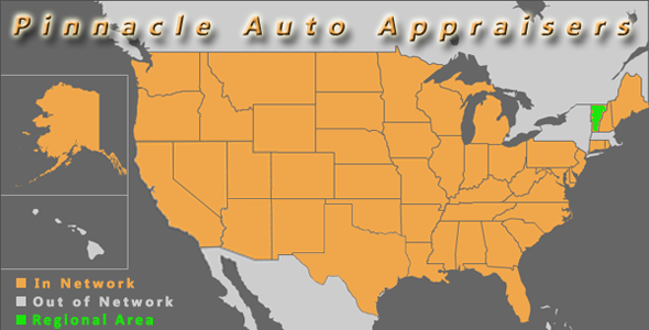 map vermont pinnacle auto appraisal appraiser diminished value inspection
